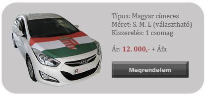 Magyar címeres szurkolói zászló